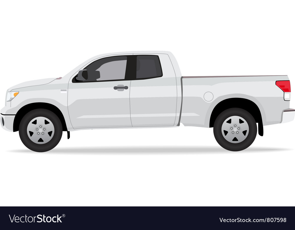 Pick-up truck side view