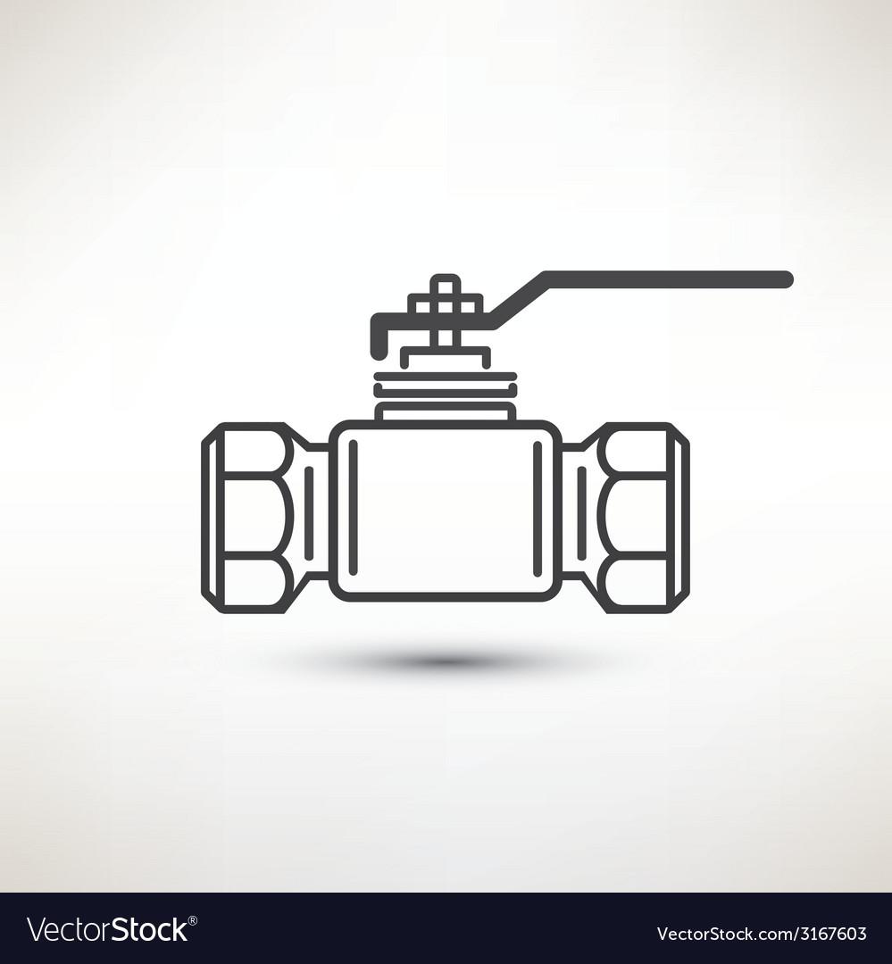 Ball Valve Symbol Royalty Free Vector Image Vectorstock