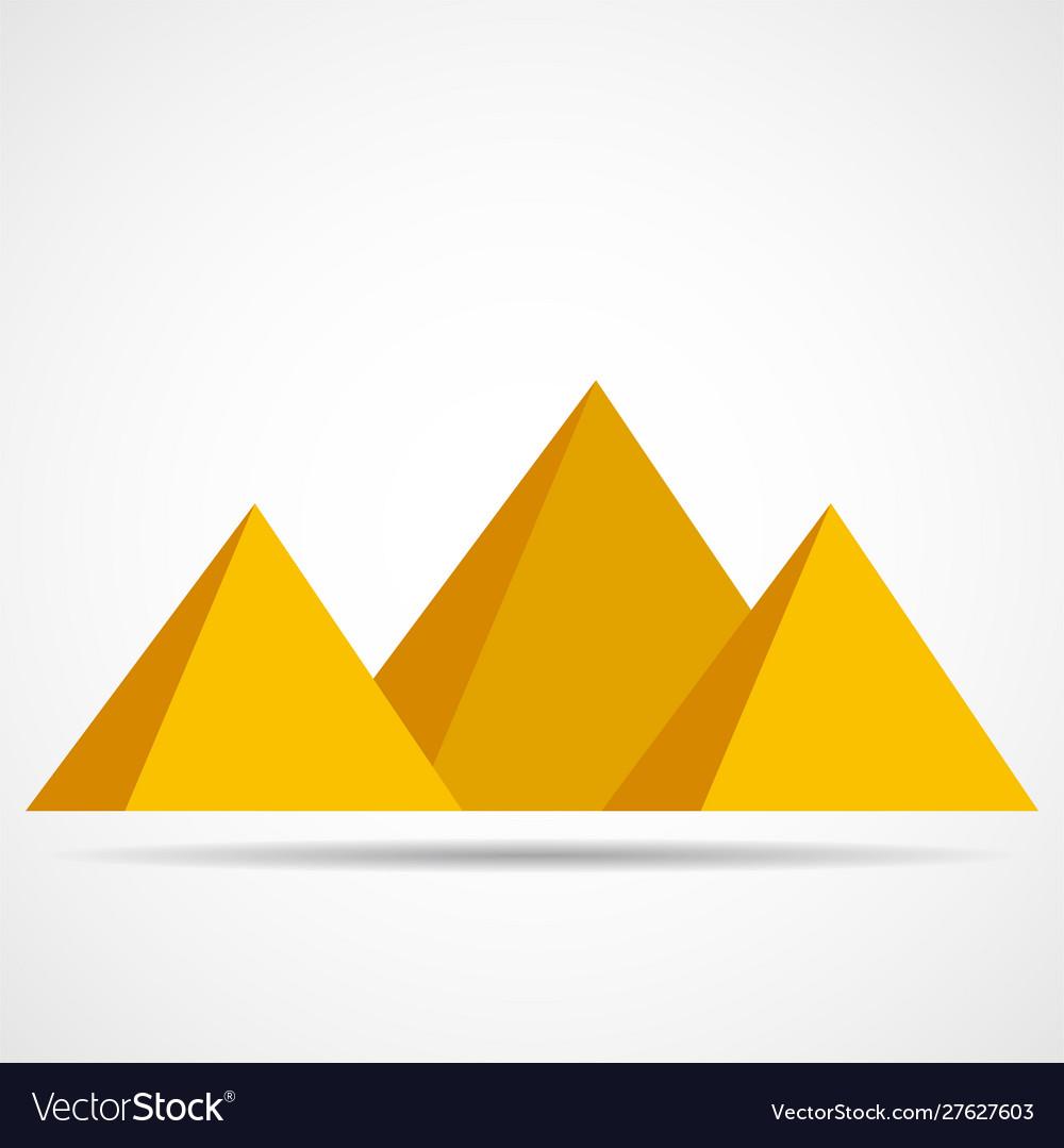 Egypt pyramids icon isolated on a white