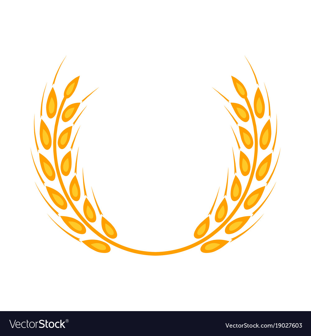 gold laurel wreath a symbol of the winner wheat vector image rh vectorstock com wheat vector png black wheat vector download