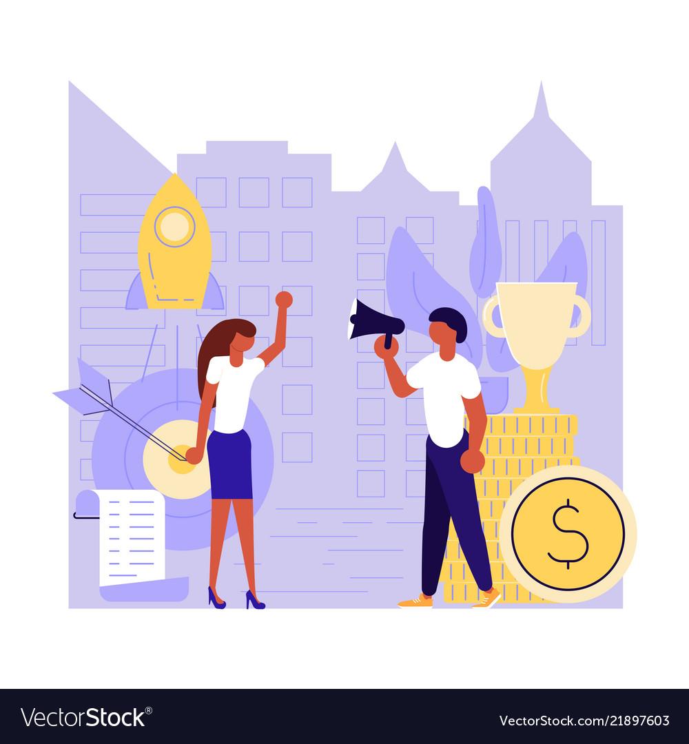 Investment start-up concept