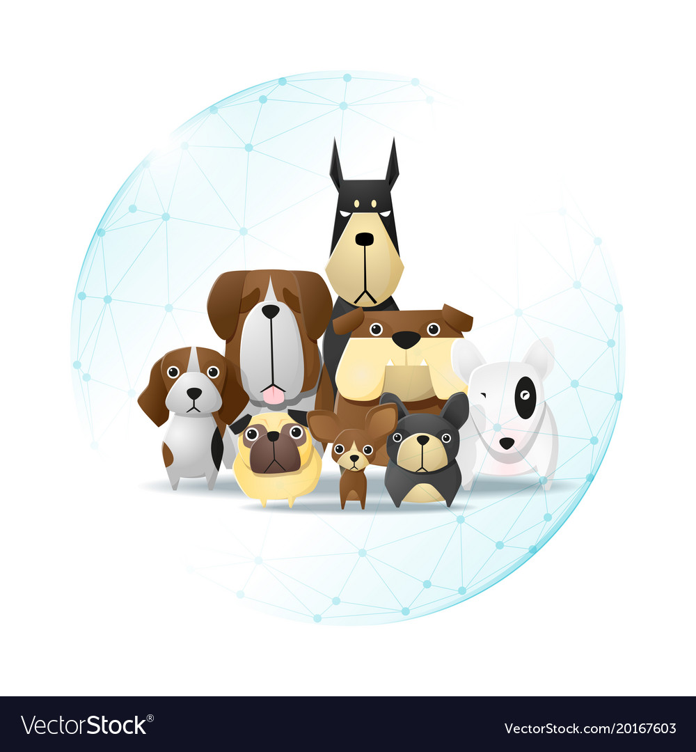 Pet care concept with dogs vector image