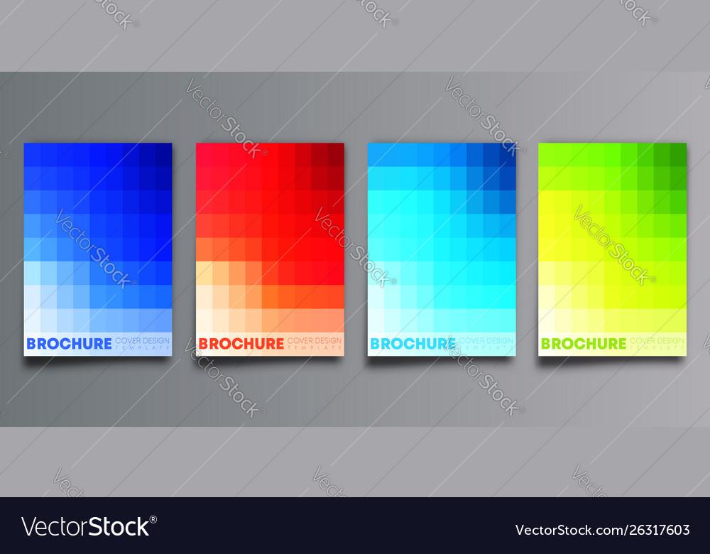 Set colorful gradient cover template design