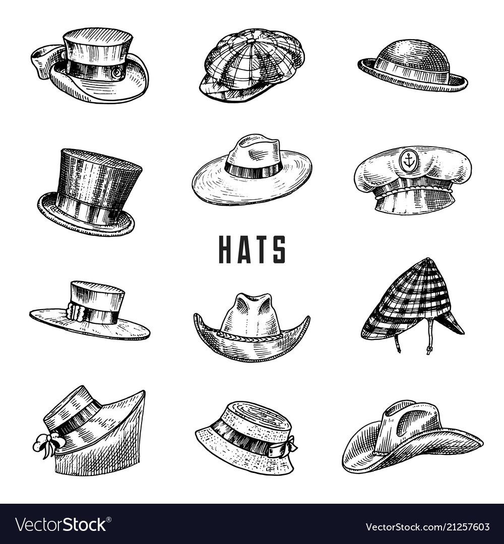 Summer vintage hats collection for elegant men