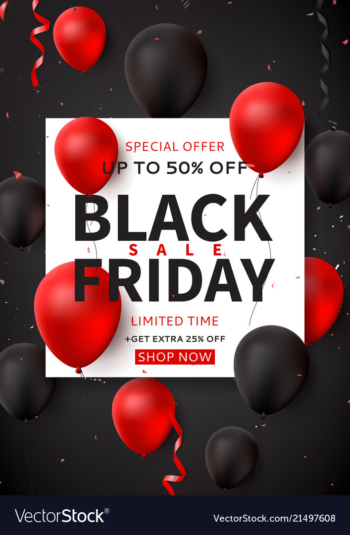 Dark promo poster for black friday sale