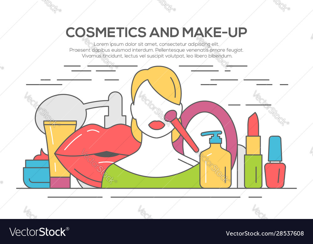 Make up beauty woman concept
