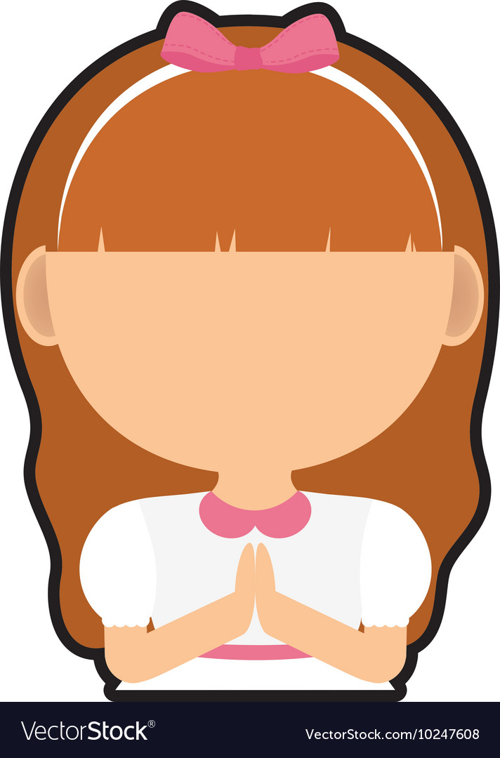 Pray girl kid religion icon