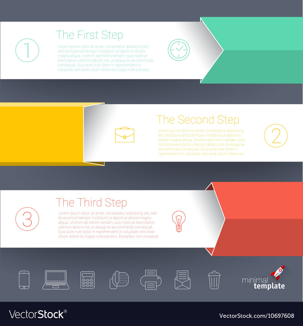 Steps by step chart and graph mock up