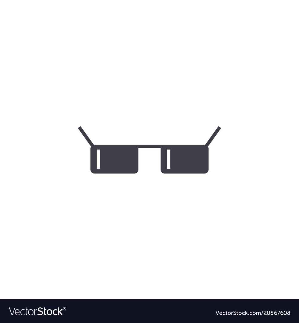 Sunglasses thin line stroke icon