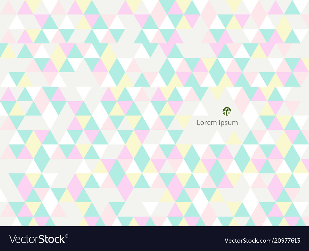 Abstract of sweet colorful triangles patterns