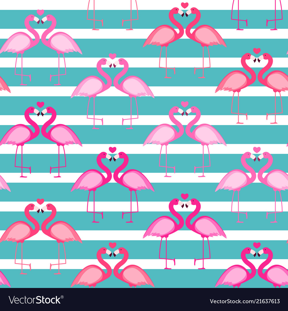Cute seamless flamingo pattern