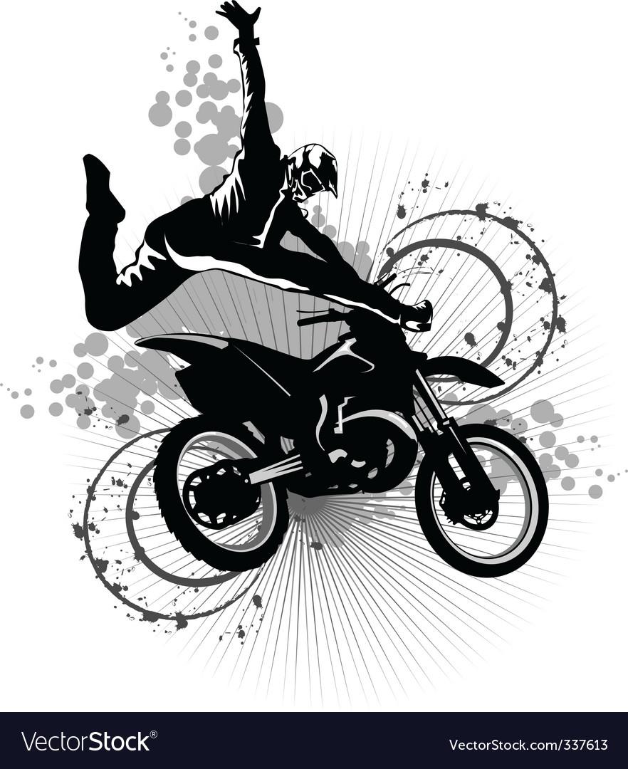 Dirt bike vector image