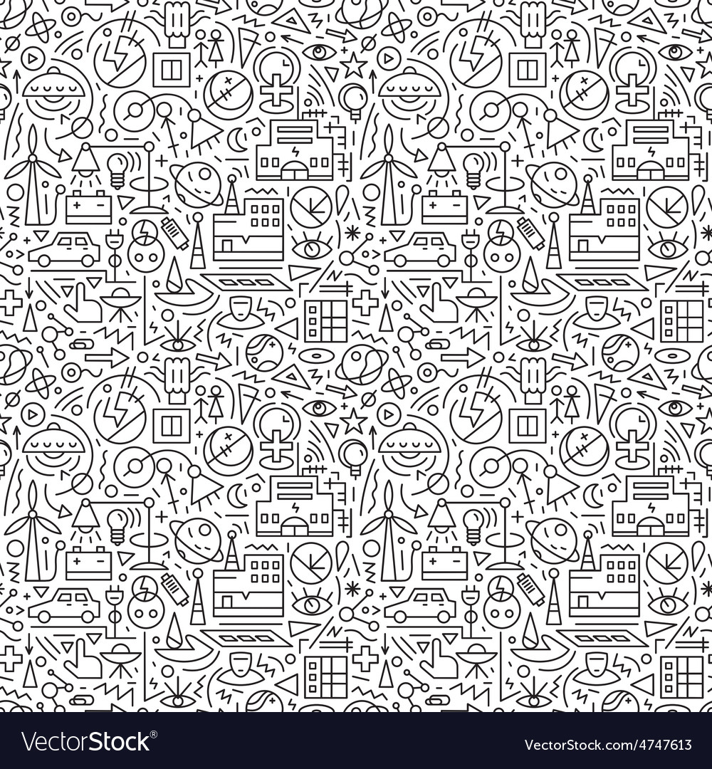 Electricity seamless background