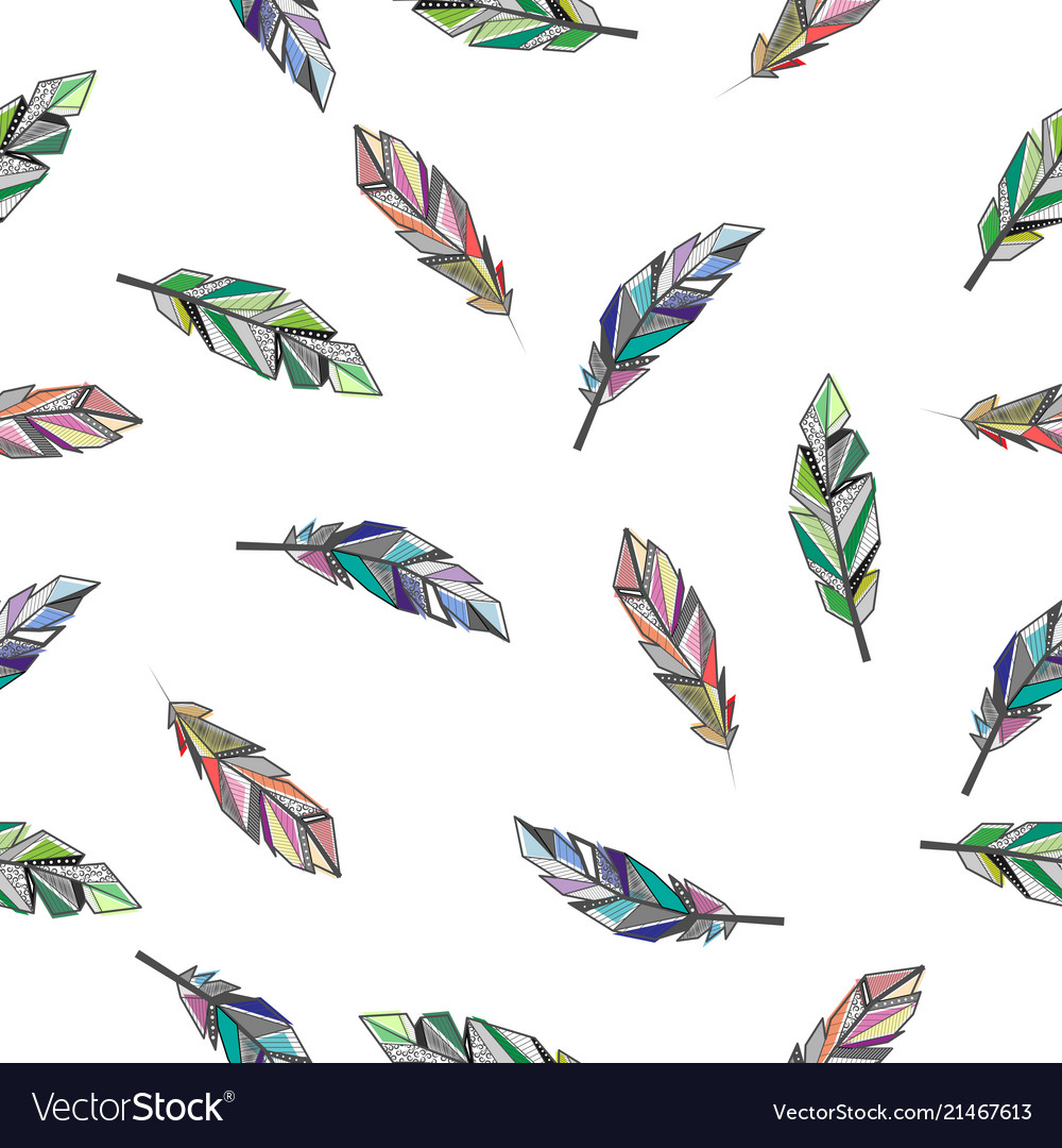 Feathers color background