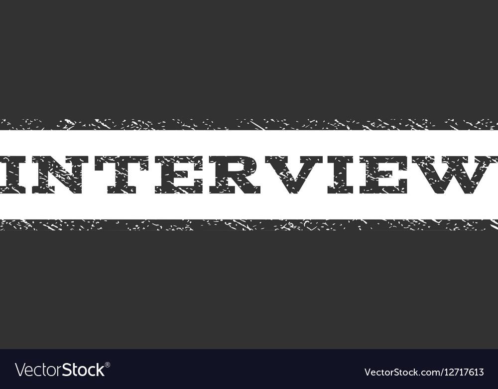 Interview Watermark Stamp vector image