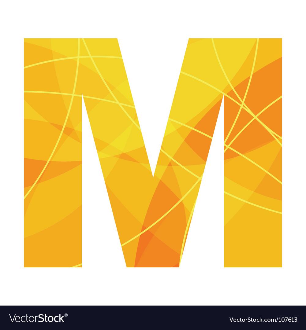 M vector image