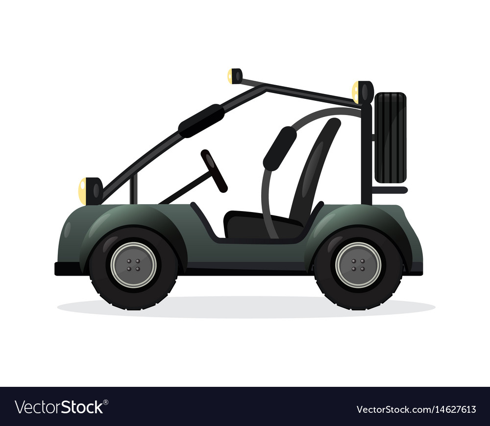 Off road buggy car design element vector image