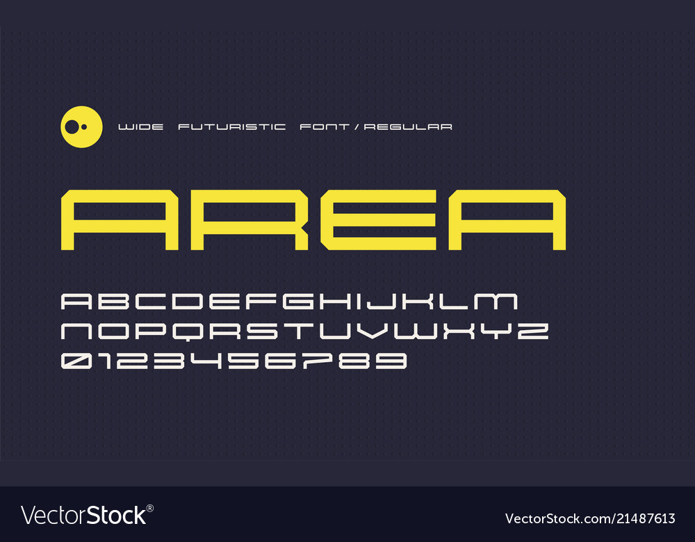 Regular futuristic display font modern