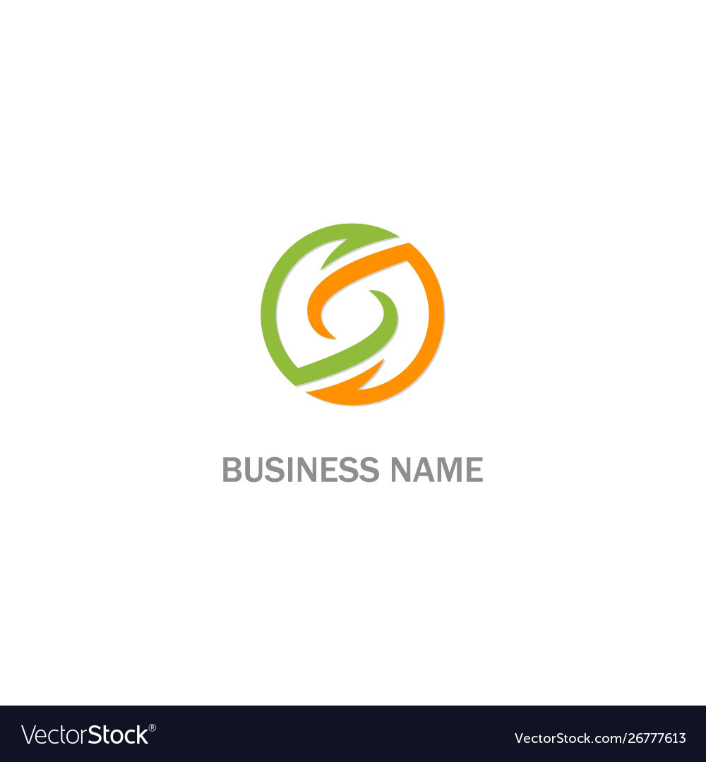Round circle colored abstract connect logo