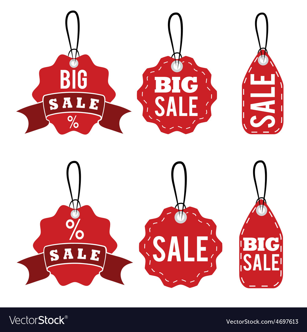 set of sale tags design template royalty free vector image