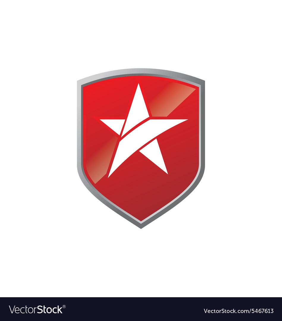 Star shield glory emblem logo