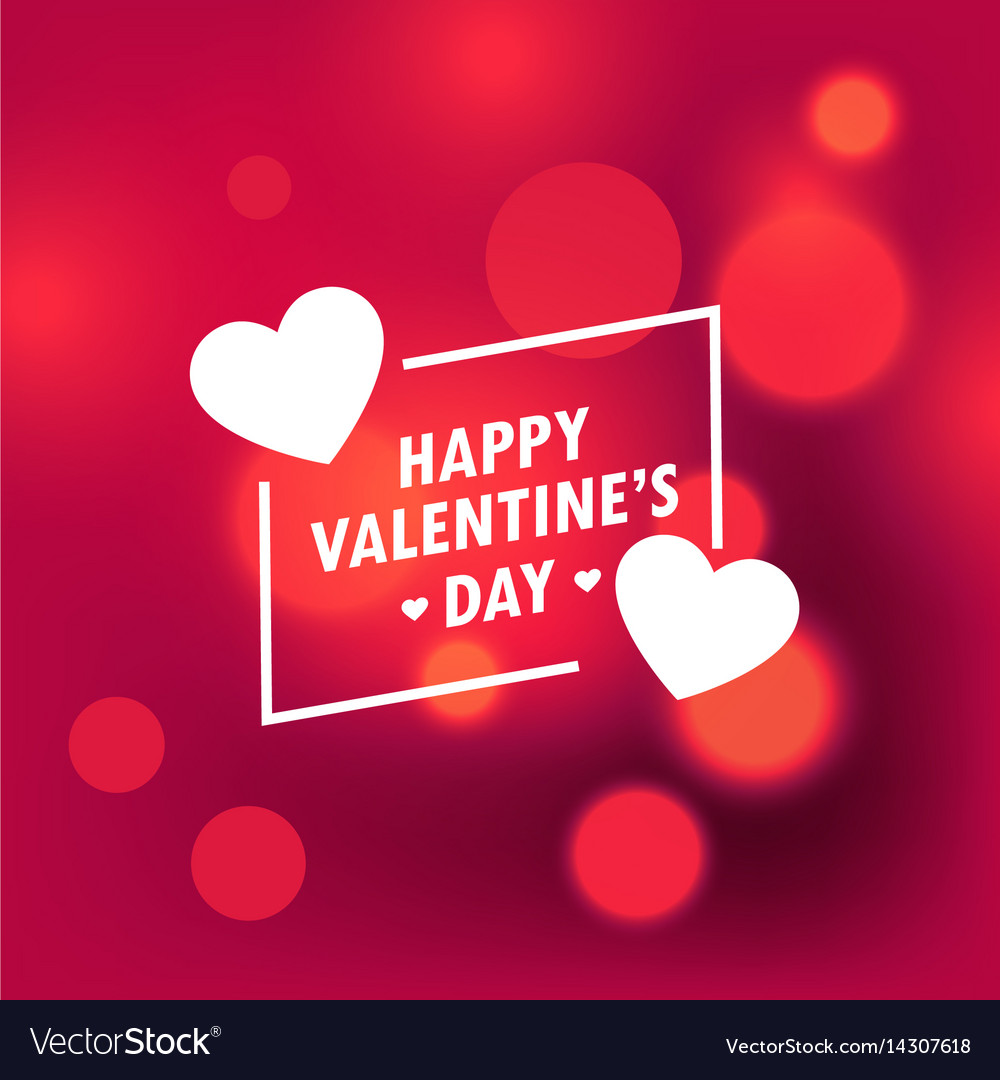Beautiful happy valentines day background with