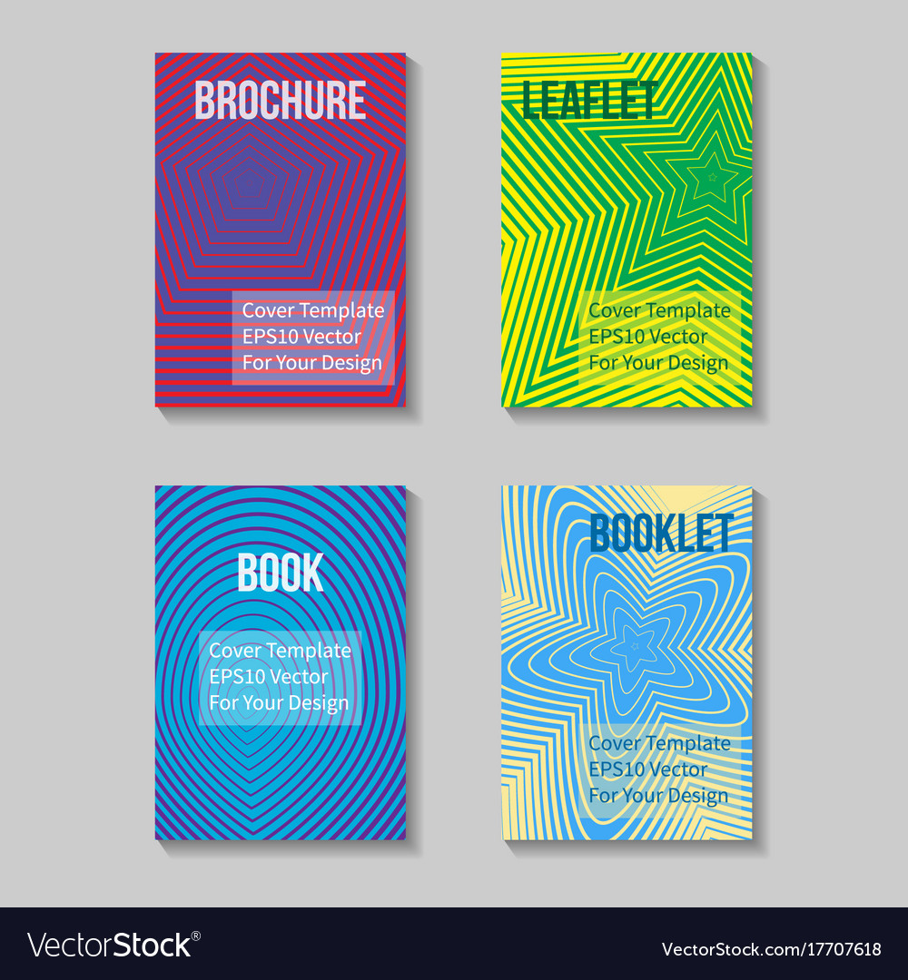 Book title page template business report cover vector image wajeb Image collections