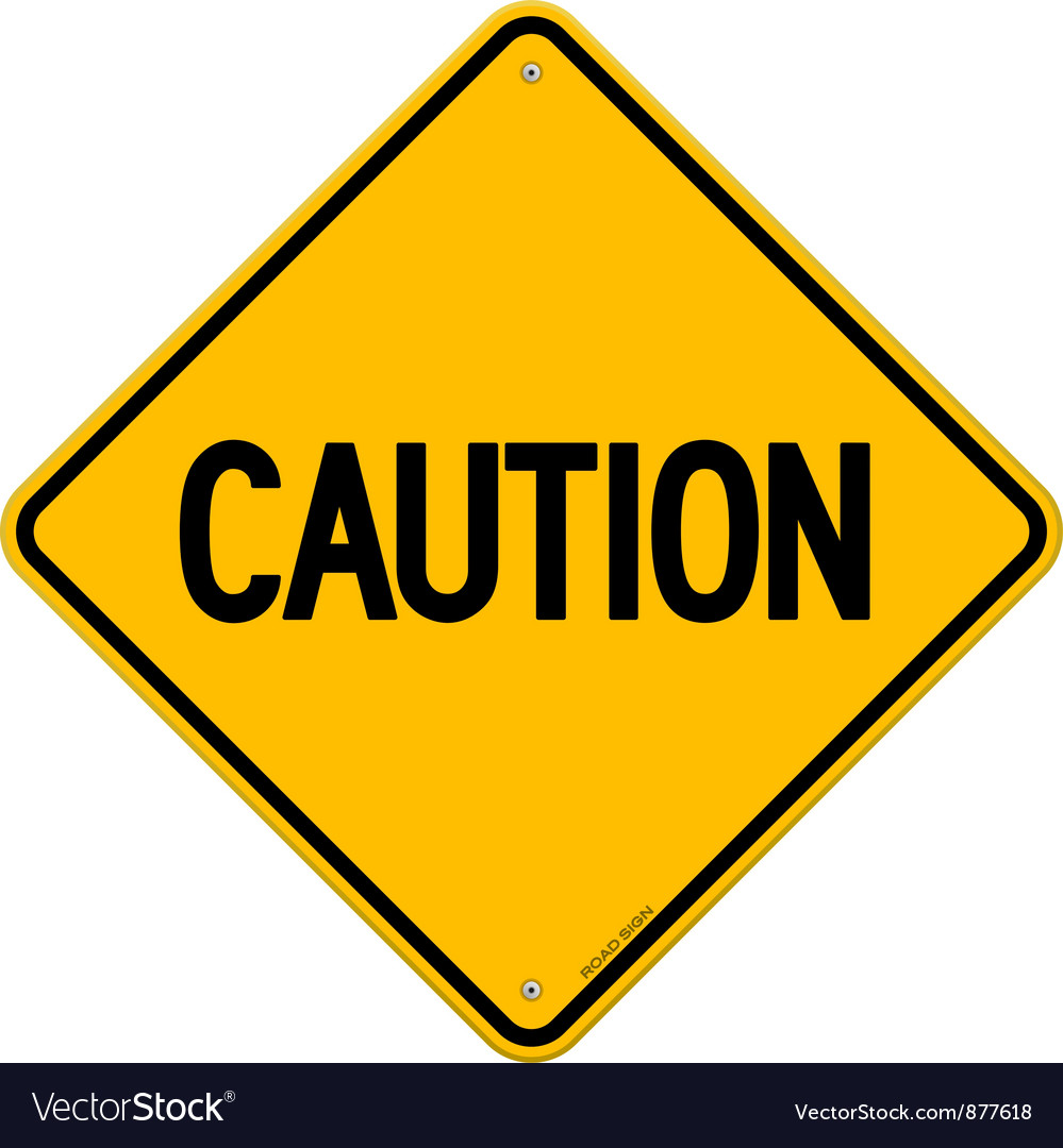 Caution Yellow Sign vector image
