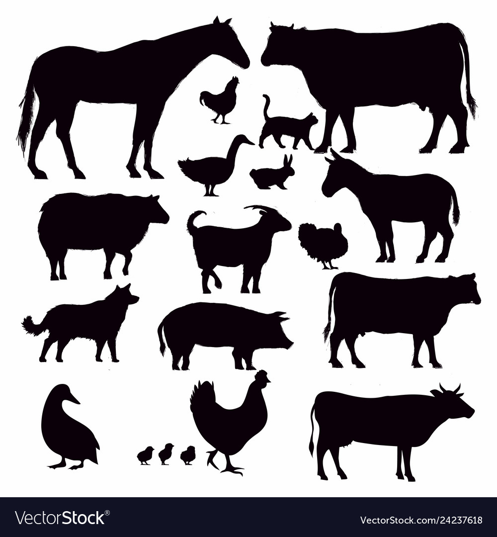 Farming animal silhouette