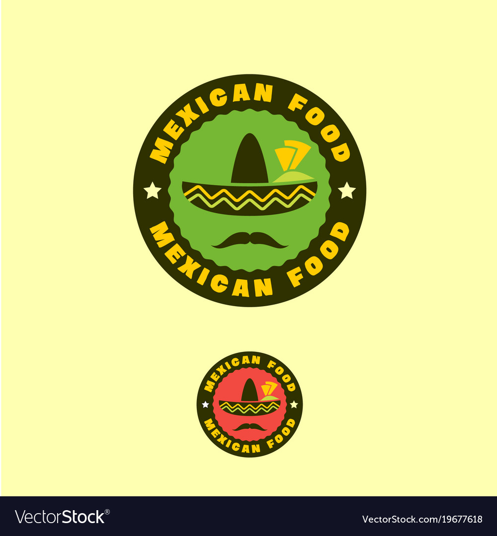 Mexican traditional food logo or emblem
