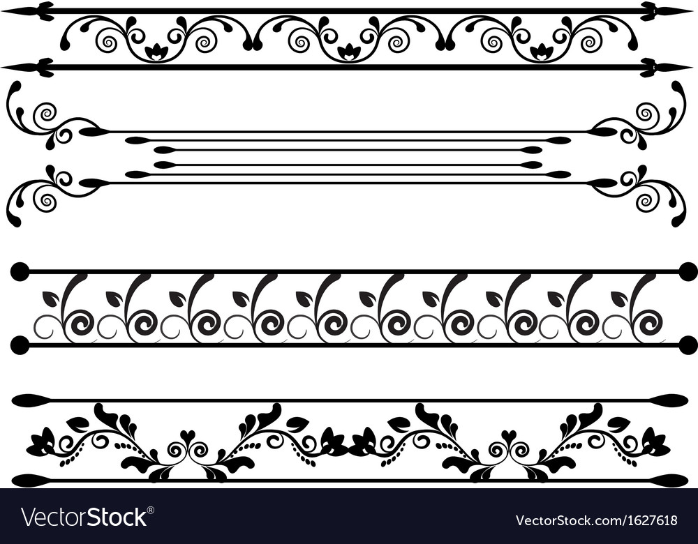 Ornaments with floral elements