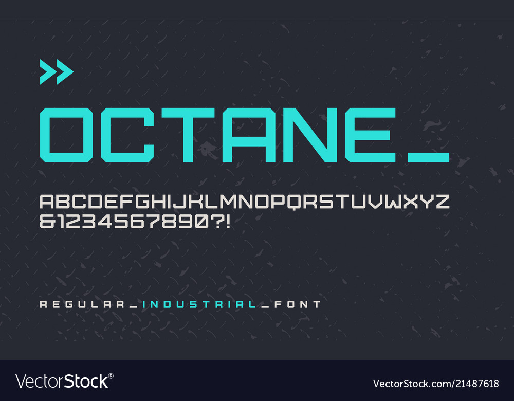 Regular industrial style display font