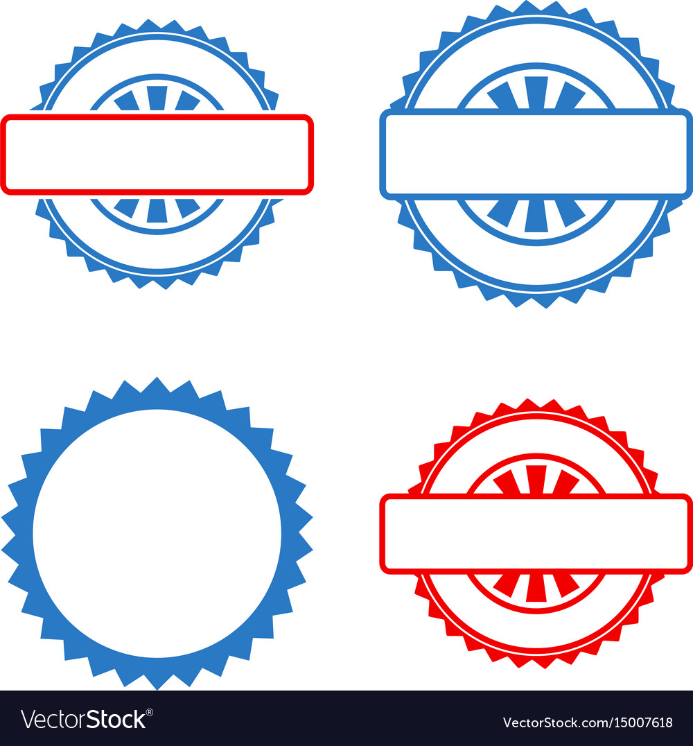 Stamp Template | Seal Stamp Template Flat Icons Royalty Free Vector Image