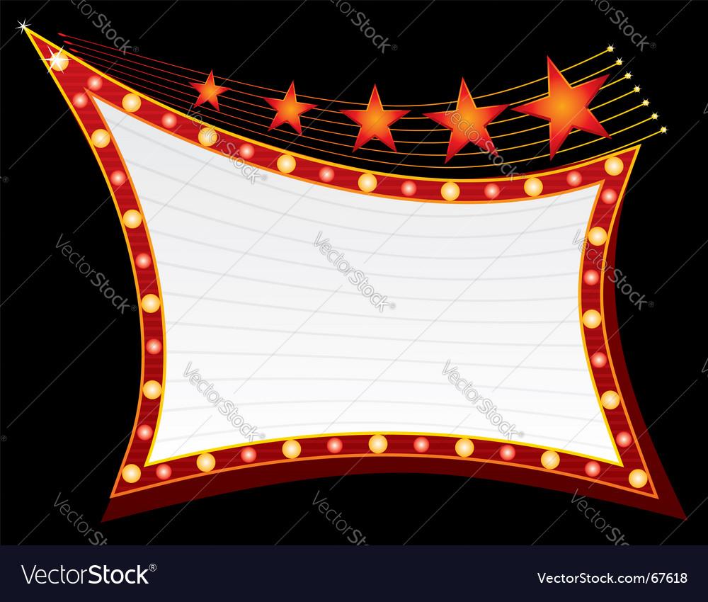 Stars on neon light vector image