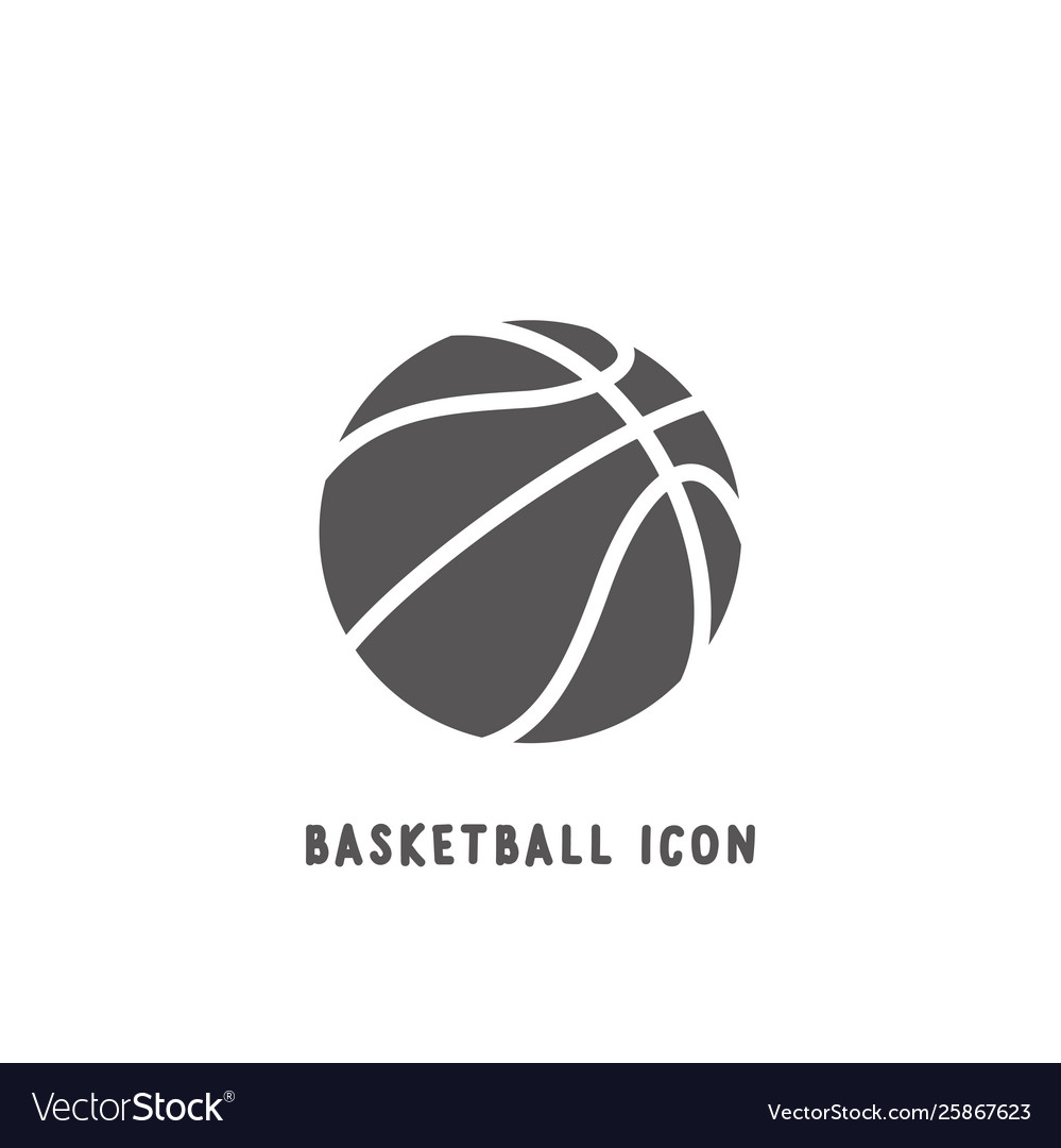Basketball icon simple flat style