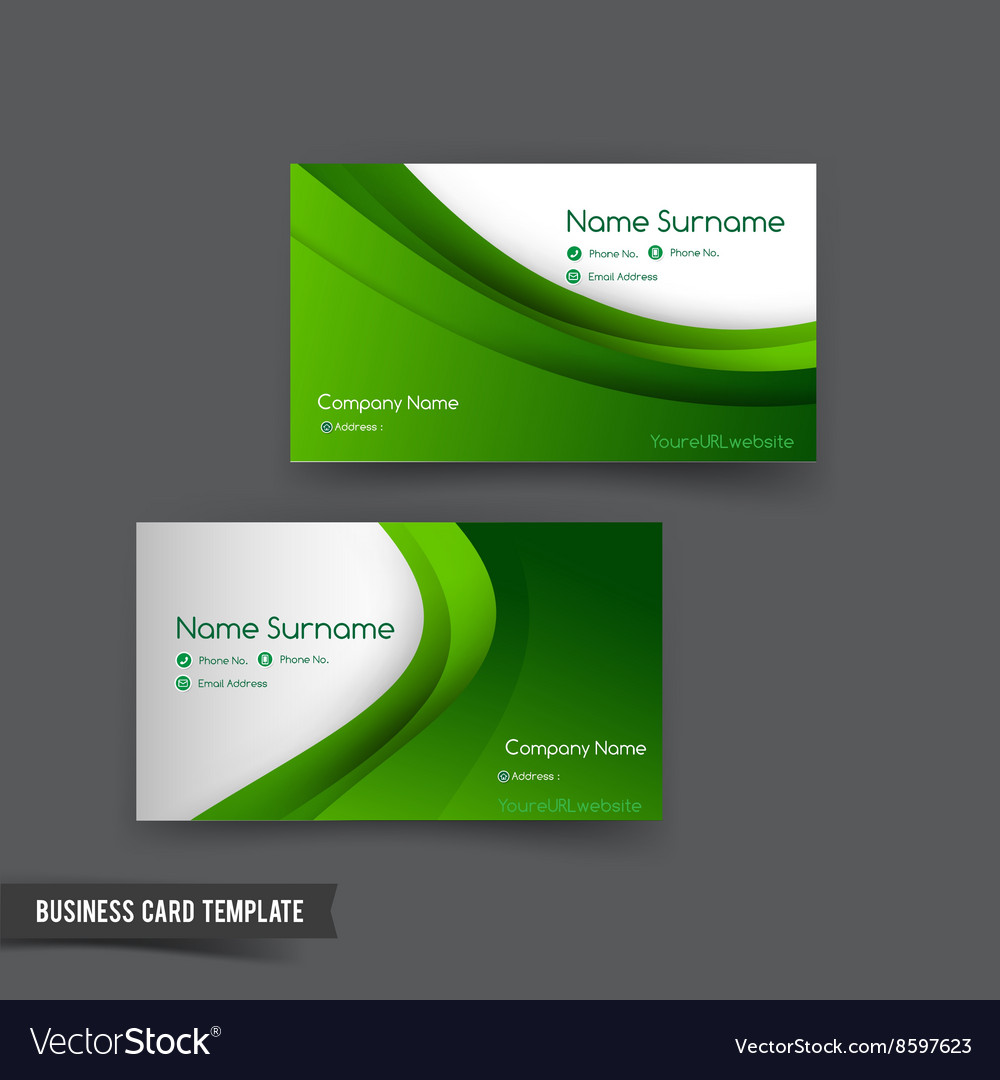 Business card template set 049 green curve element business card template set 049 green curve element vector image flashek Image collections