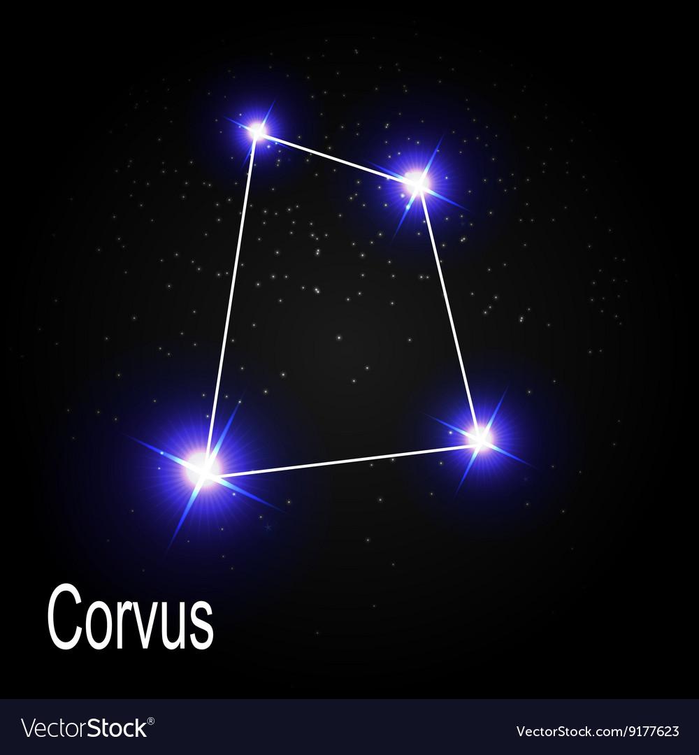 Corvus Constellation with Beautiful Bright Stars