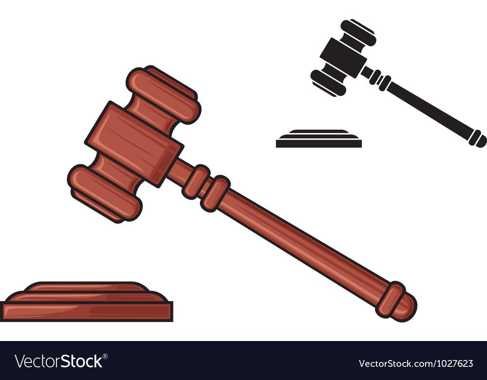 judge gavel hammer of judge or auctioneer vector image rh vectorstock com gavel vector free download gavel vector art