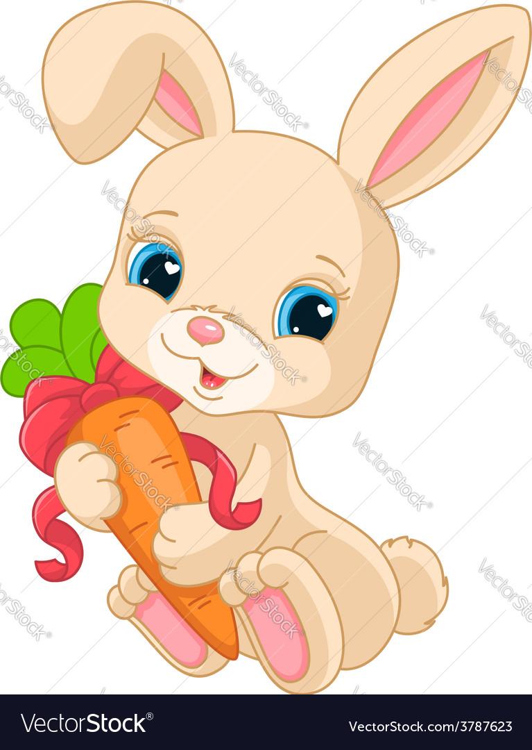 Rabbit holds carrot