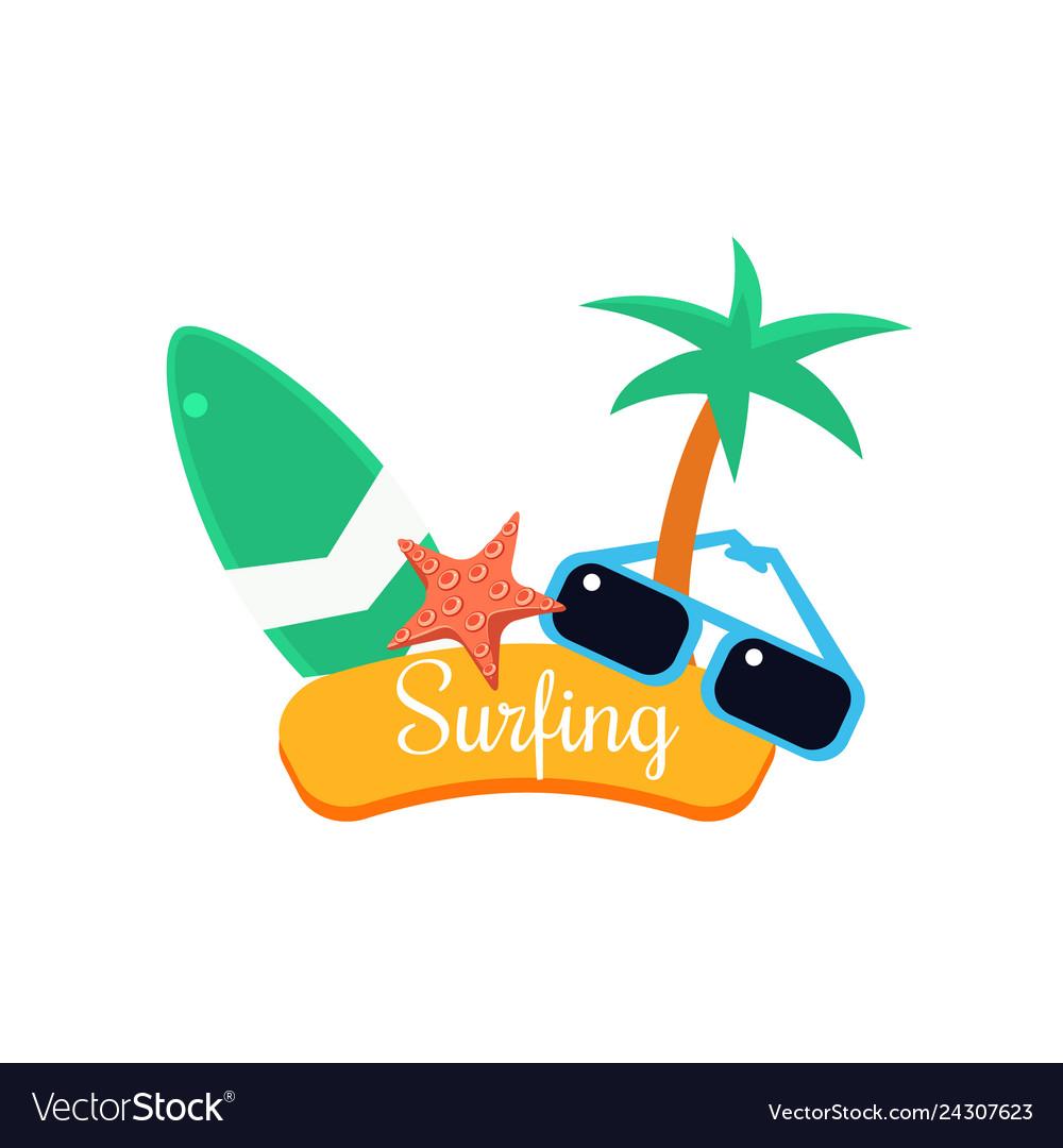 Surfing summer vacation