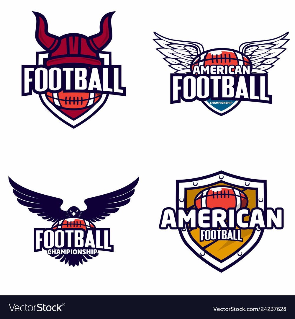 American football logo badge