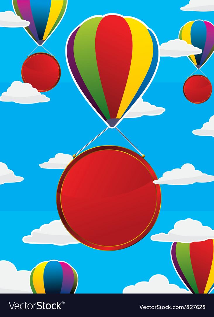 Balloons Frame Circle Royalty Free Vector Image