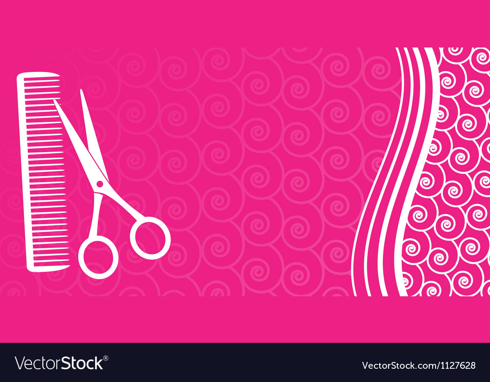 Business card for hair salon
