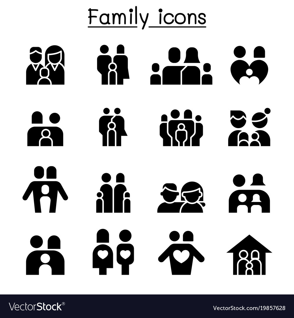 Family people icon set graphic design