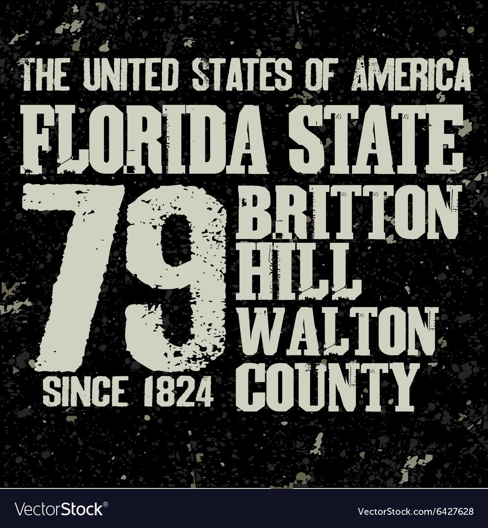 Florida t-shirt fashion typography