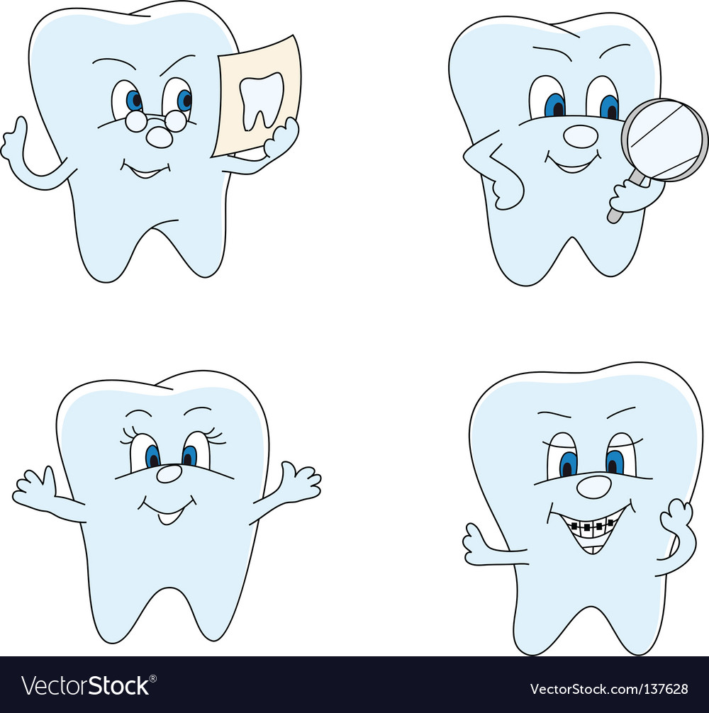 Funny teeth vector image