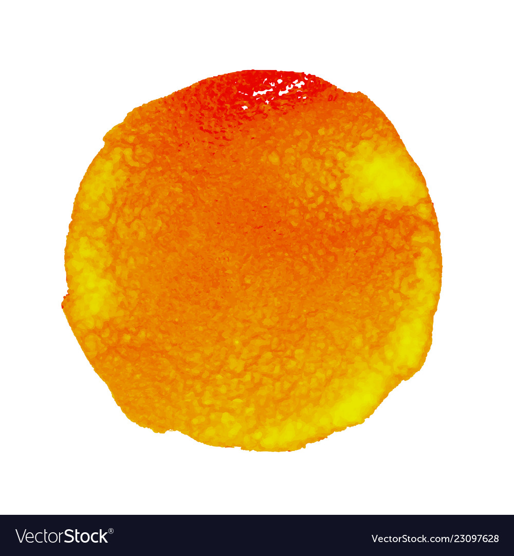 Orange watercolor stain