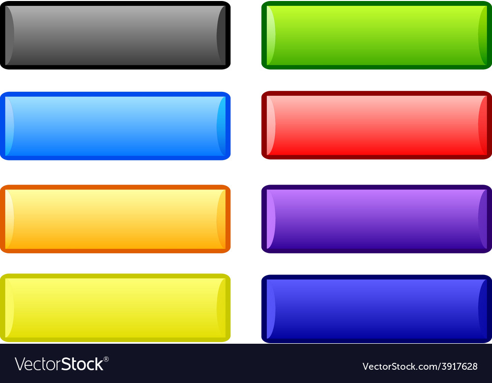 Plastic buttons vector image