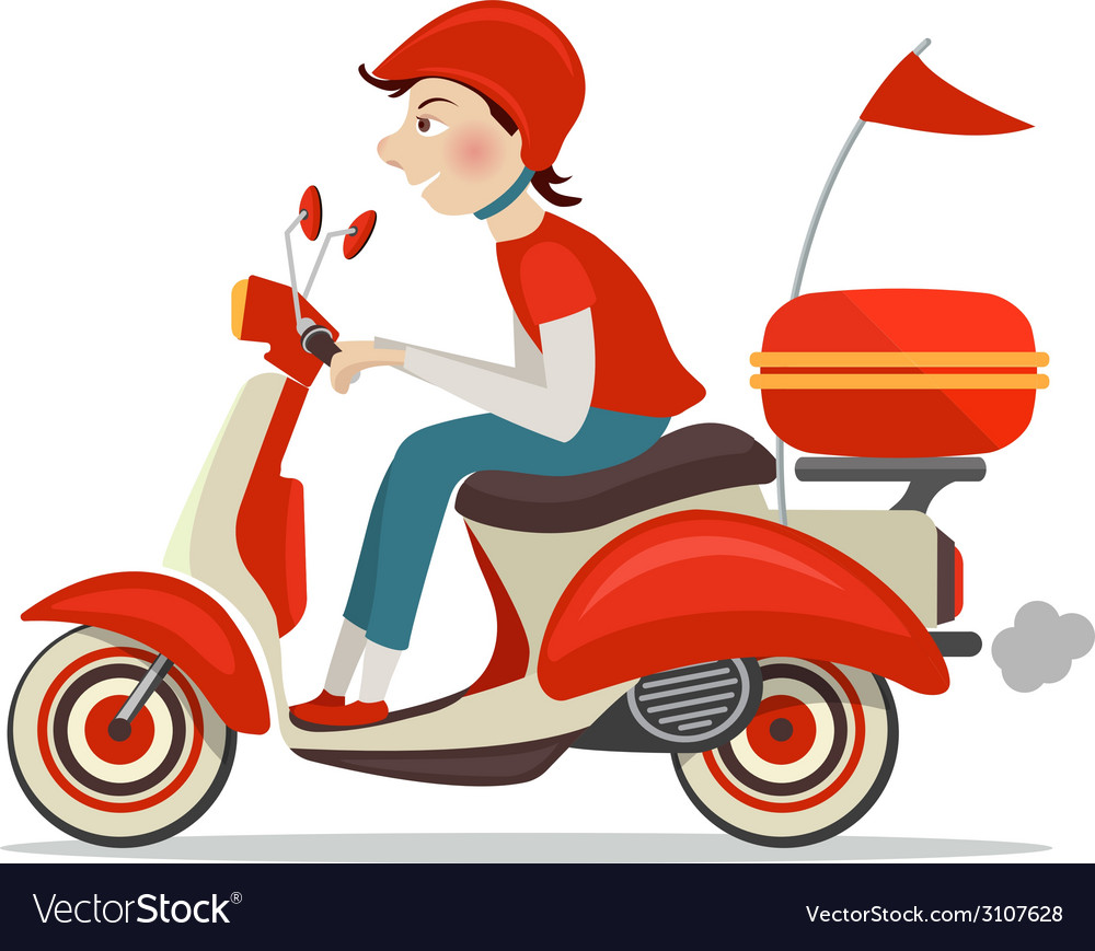 scooter delivery icon royalty free vector image