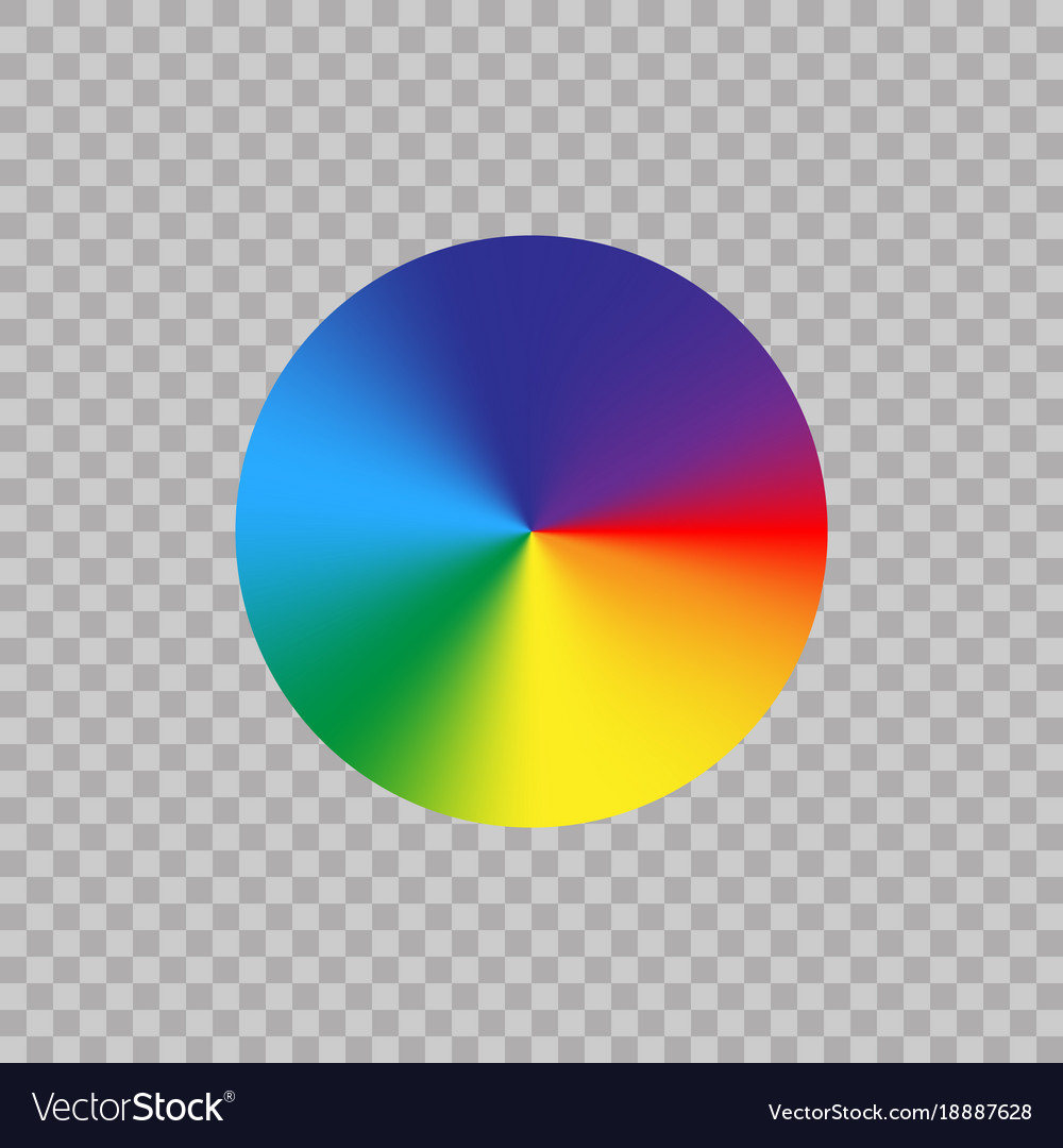 spectrum color wheel on transparent background vector image rh vectorstock com